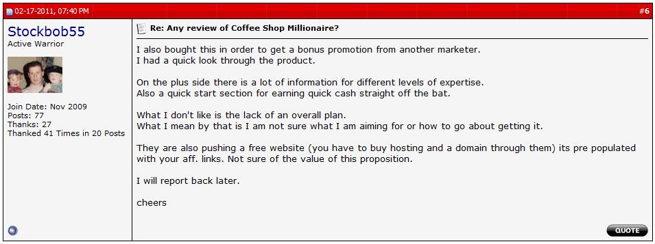 coffe shop millionaire scam