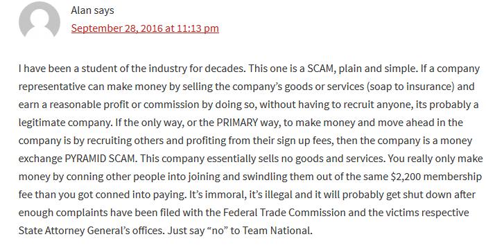 Team National Scam Complaints