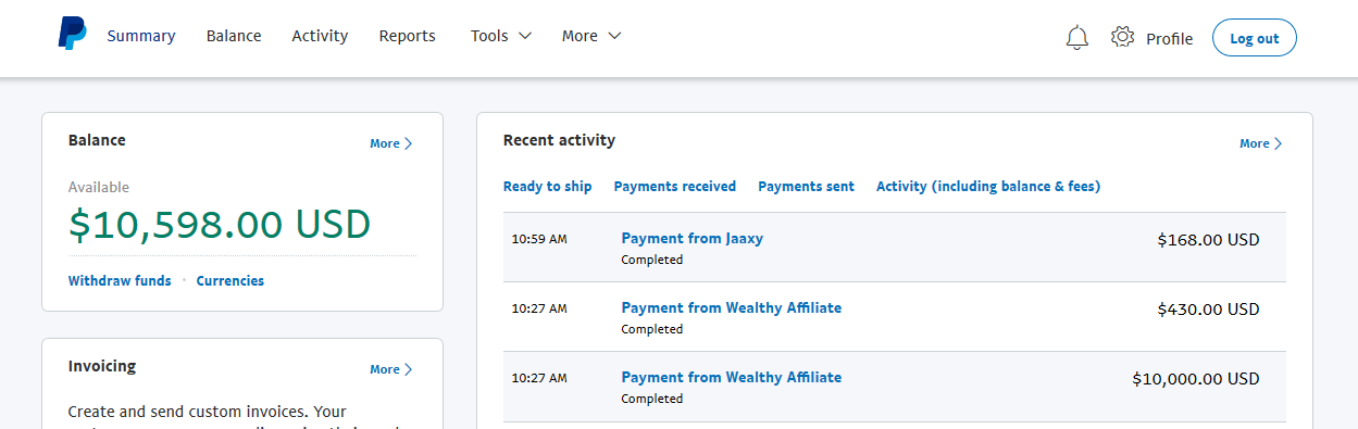 wealthy affiliate review : Income