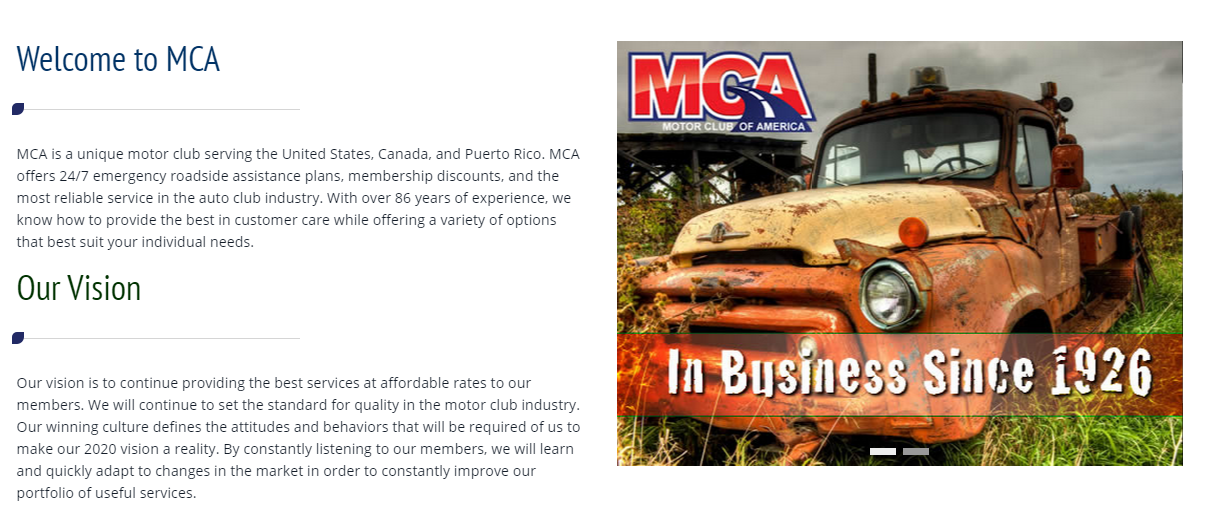 Motor club of america full in depth review is it for Mca motor club of america scam