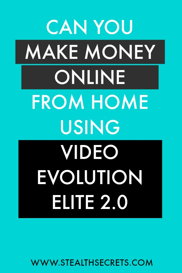 Can you make money with Video Evolution Elite 2. Learn some of the best ways to make money from home. If you're looking for at home jobs no experience gig, then we have seen them all. We review the best work at home jobs that will enable you to earn extra money from home. Legitimate work from home jobs can be hard to find, but with our guidance, we show you how to make extra money at home. We give you fast money making ideas, extra income ideas on the best work from home jobs.