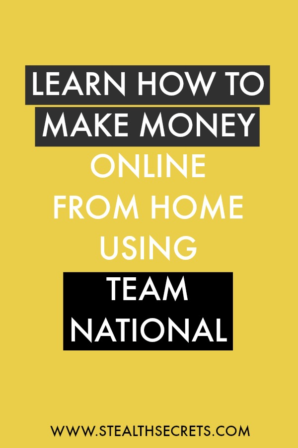 Learn how to make money online from home using team national. Is this a legit way to make money from home? Click here to learn more.