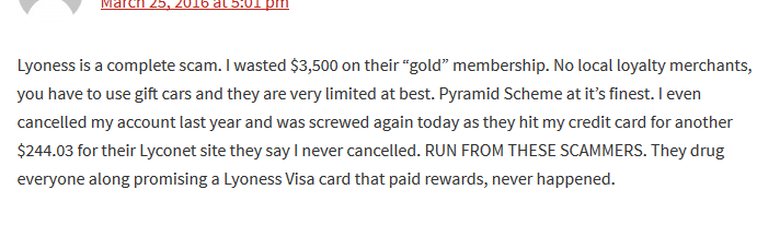 Lyoness Scam Reviews