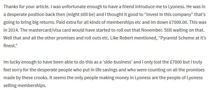Lyoness Complaint Reviews