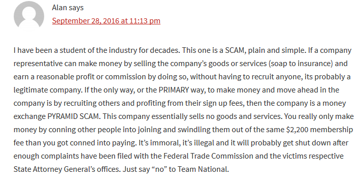 Team National Scam Complaints