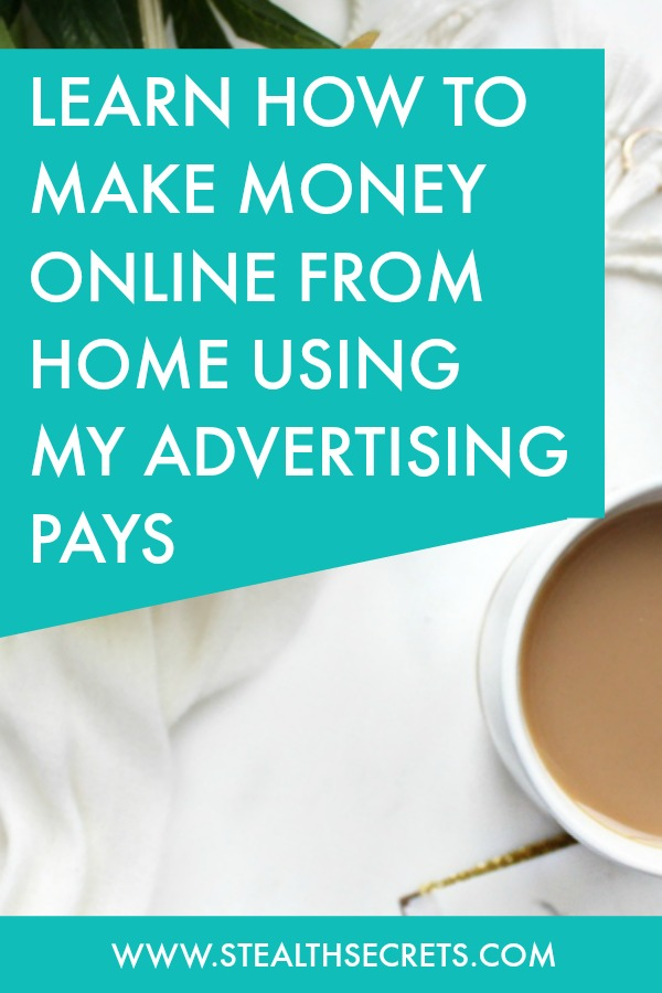 Learn how to make money online from home using my advertising pays. Is this a legit way to make money from home? Click here to learn more.
