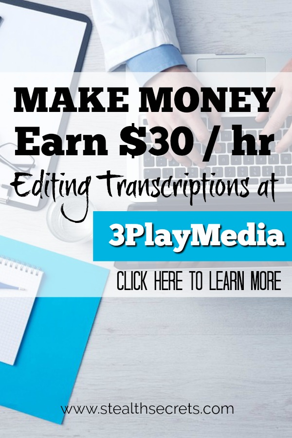 Transcription jobs from home are becoming more and more popular. It's not too difficult to find transcription jobs for beginners if you know where to look. 3PlayMedia is such a place and you could earn up to $10 per hours as a transcriptionist.Click here to leearn more.