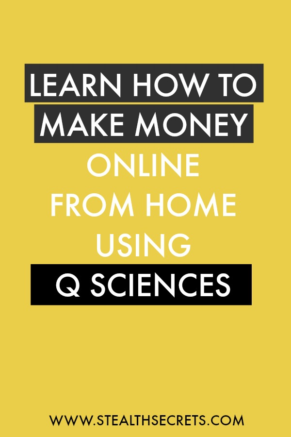Learn how to make money online from home using q sciences. Is this a legit way to make money from home? Click here to learn more.
