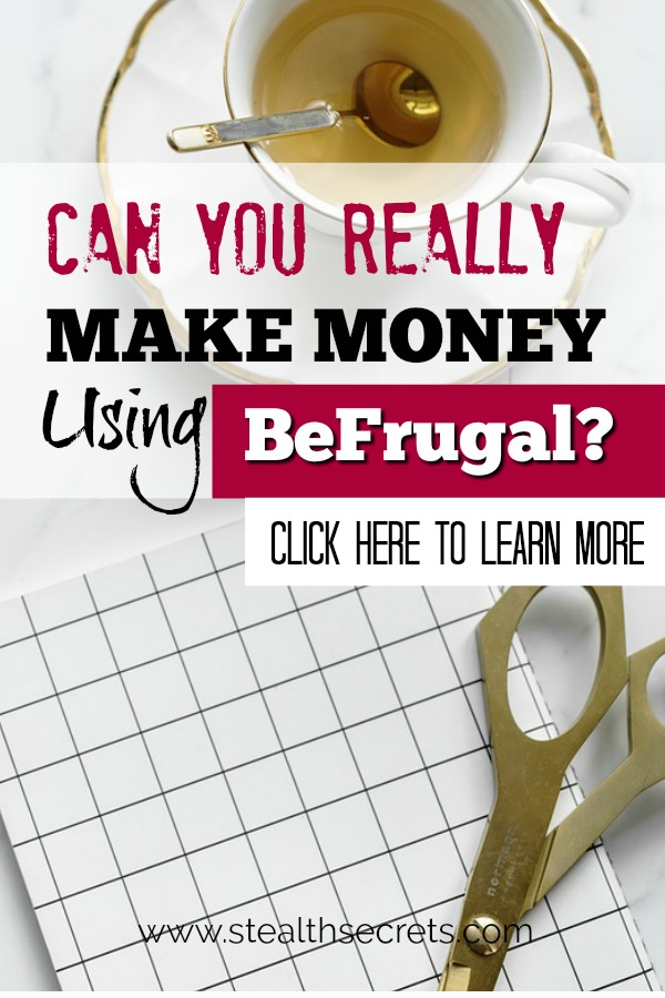 Can you make money with BeFrugal? Click here to learn more.
