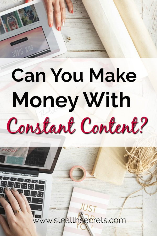 Can you make money with Constant Content? Click here to learn more.