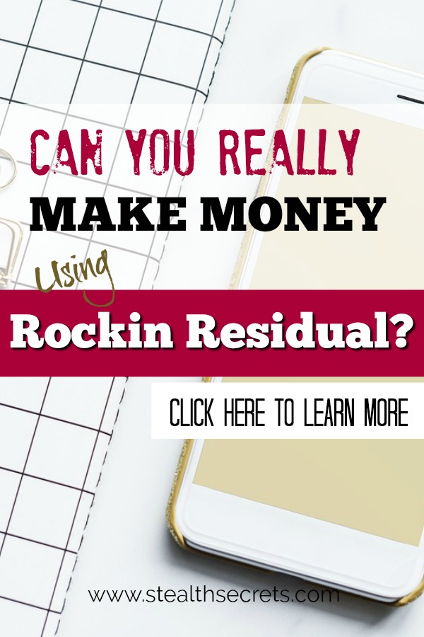 Can you really make money using Rockin Residual? Is this company a legitimate way to make money from home? Click to read more about this money making opportunity.