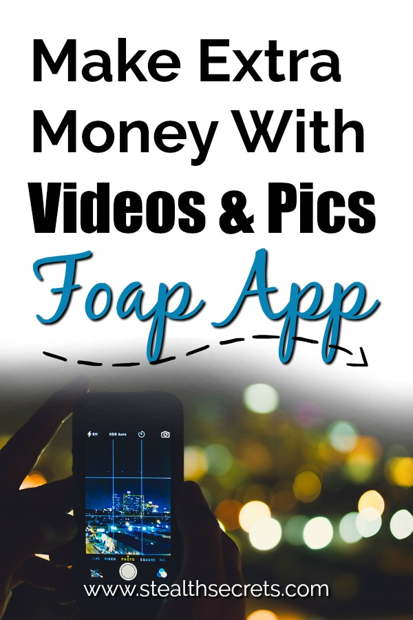 Learn how you can make money with the pictures and videos you take on your smartphone. You can make extra money on the side if you signup to the Foap app. It's a great side hustle if you like taking pictures and videos with your smartphone.