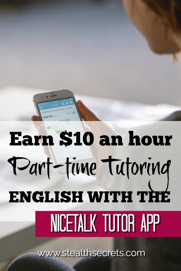 Did you know that you can make money on the side tutoring English using the NiceTalk App? Click here to learn more.