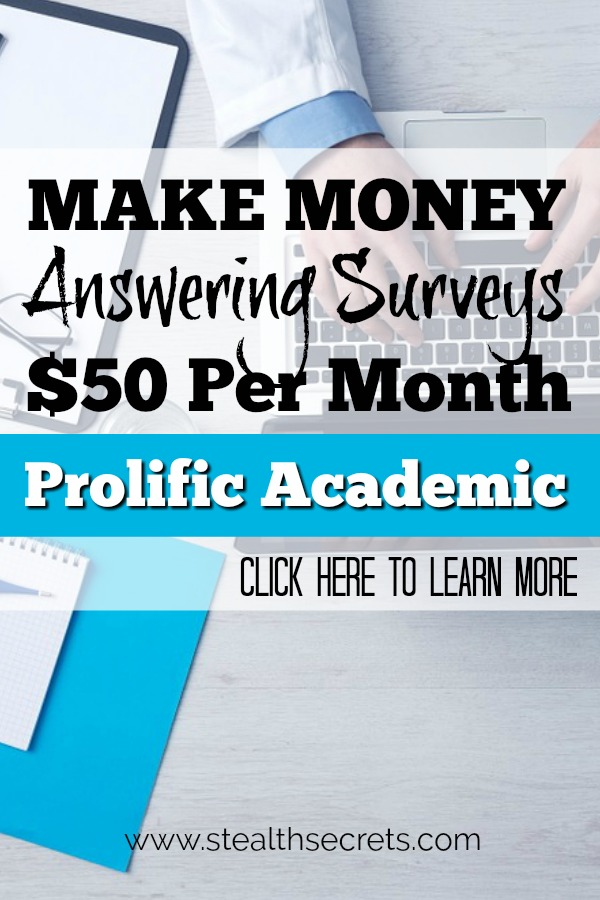 Did you know that you can make money answering surveys online? You can earn up to $50 per month. Click here to learn more.