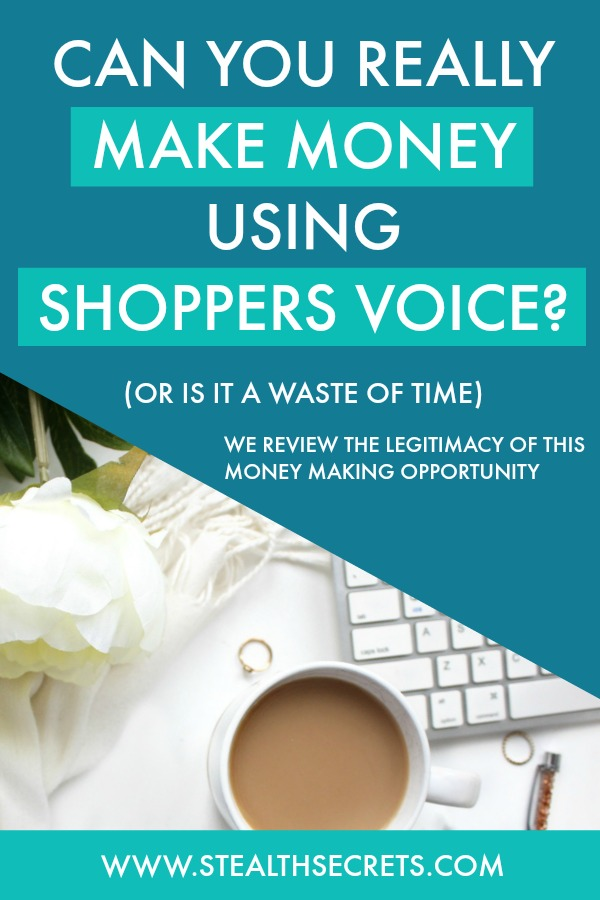 Can you really make money using the Shopper's Voice program? We review how legit this money making opportunity of the Shopper's Voice program. Click here to learn more.