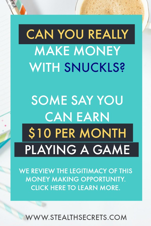 Can you really make money with the Snuckls game? Some say you can earn as much as $10 per month playing the game, but is this true? Is it a legitimate money making opportunity? We review Snuckls. Click here to discover what we found.