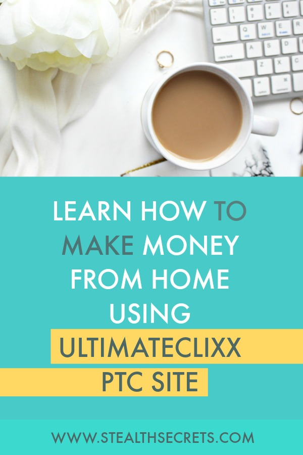 Learn how to make money online from homw using UltimateClixx PTC site. Click here to learn more.