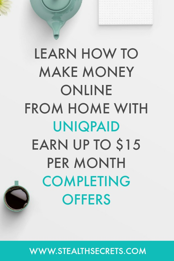 Learn how to make money using UniqPaid. Did you know that you can earn up to $15 per month with UniqPaid. Click here to learn more