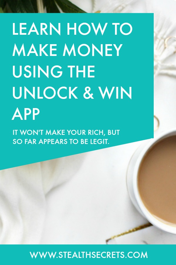 Learn how to make money using the Unlock & Win App. Could be a good way to earn some pocket money. Click here to learn more.