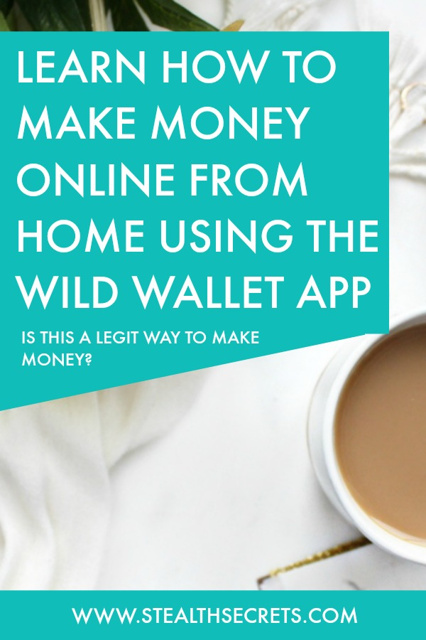 Learn how to make money online from home using wild wallet app. Is this a legit way to make money from home? Click here to learn more.
