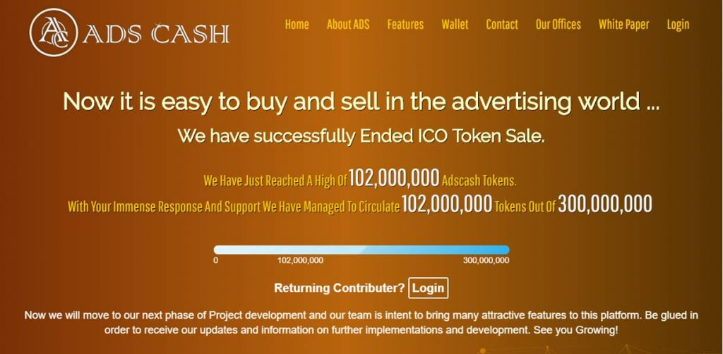 Ads Cash Review: A Legitimate Cryptocurrency That Has