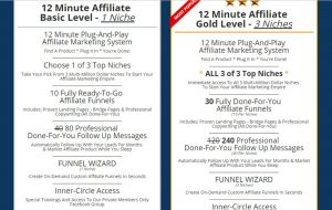 12 Minute Affiliate System Features Price