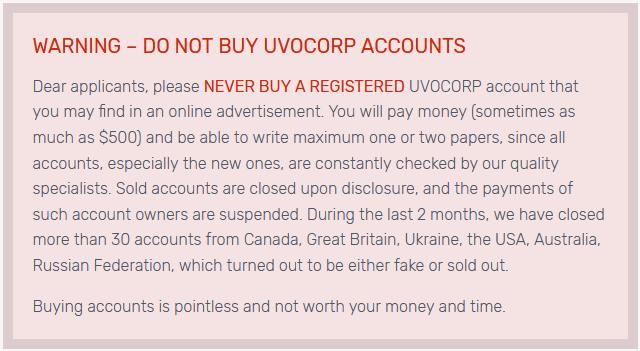 Buying Uvocorp Account