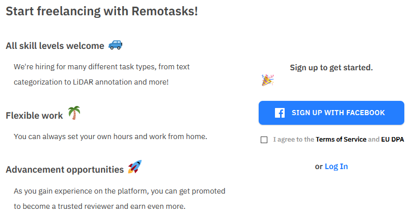 Remotasks Sign Up